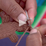 knitted finger puppet video
