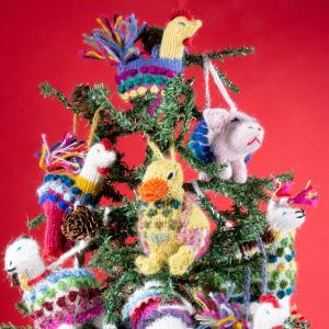knitted alpaca wool ornaments