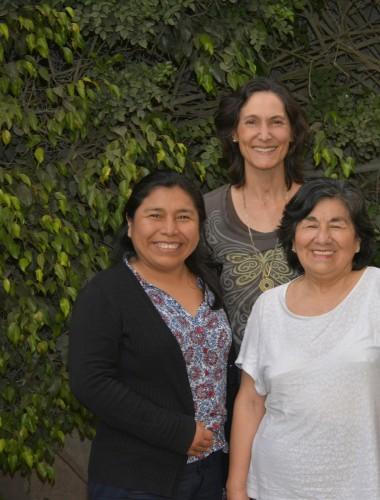 Ester, Alessandra and arpillera artists