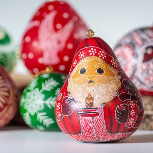 holiday gourd ornaments