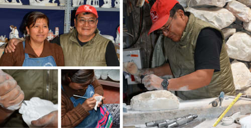Pizarro alabaster workshop