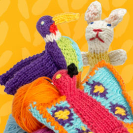 fair trade knitted ornaments