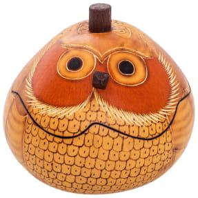 blond owl gourd box