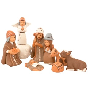 potato offering ceramic nativity