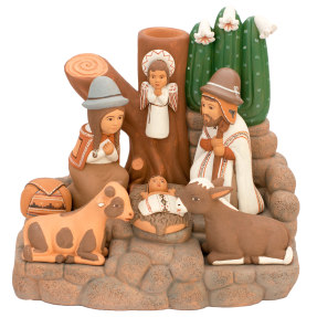 holy family with cactus fine nativity