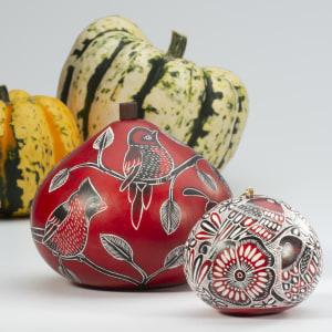 bird gourd box with ornament