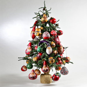 gourd ornaments on tree