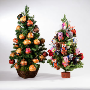 knitted and gourd ornaments