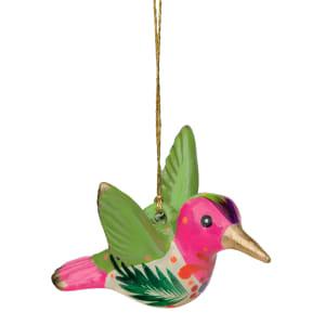 ceramic confetti hummingbird ornament