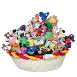 bright organic cotton puppets