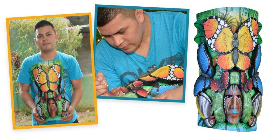 mask artist Luis Miguel
