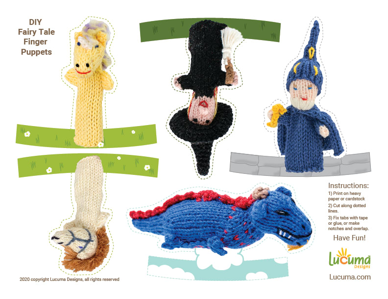 DIY Fairy Tale Finger Puppets