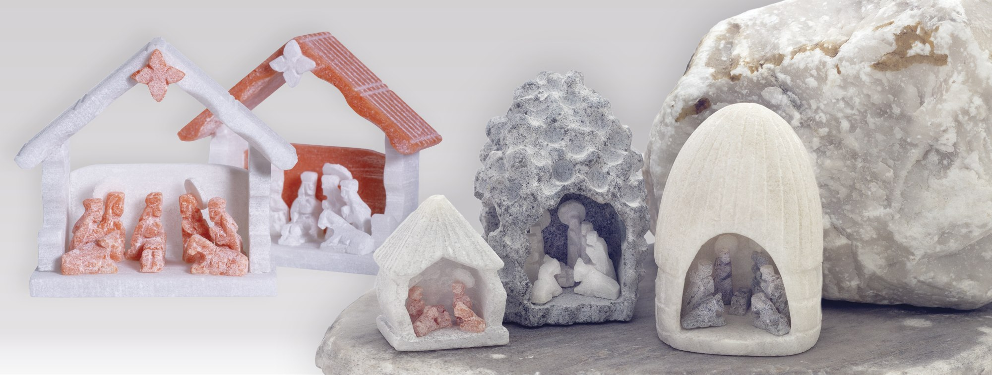 hand-carved alabaster nativities