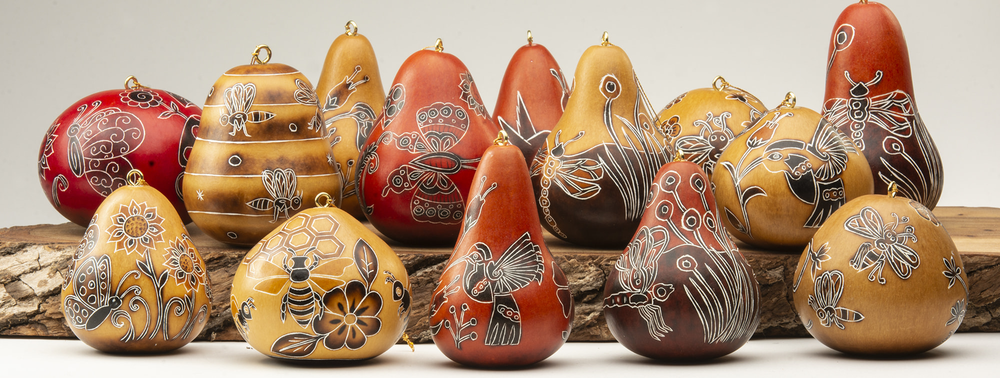 gourd ornaments nature mix
