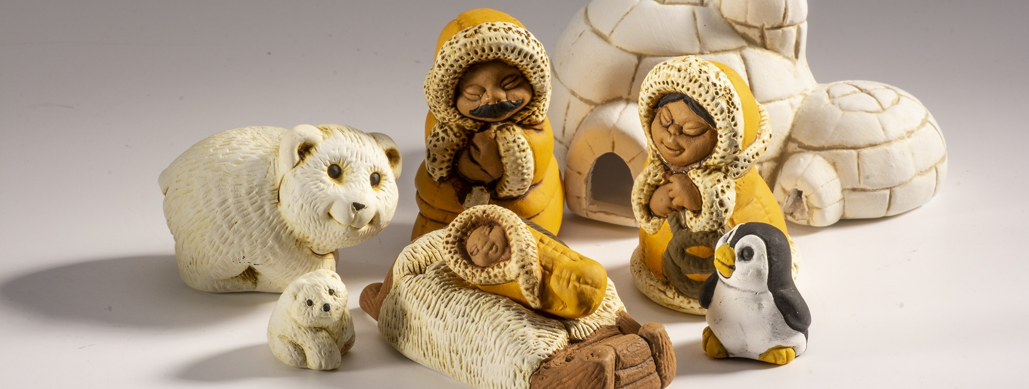 polar ceramic nativity