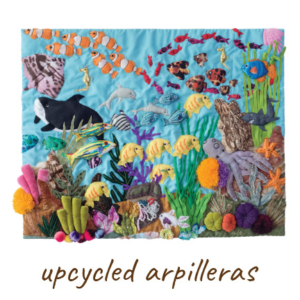 upcycled arpilleras