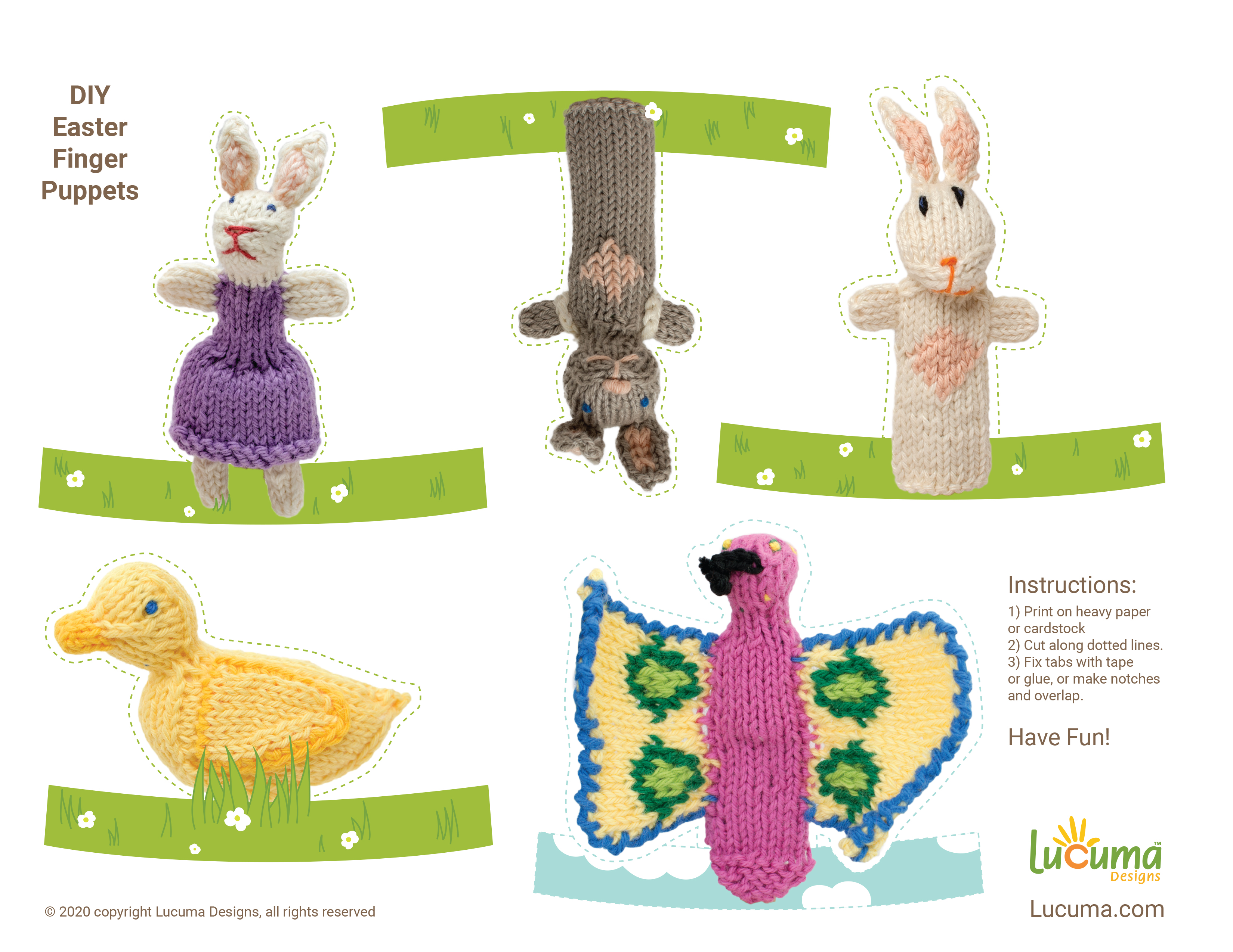DIY Easter Finger Puppets