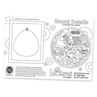 Lucuma coloring card