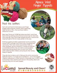 Alpaca Finger Puppets Story Sheet