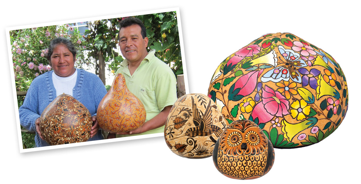 Alejandro and Victoria gourd artists
