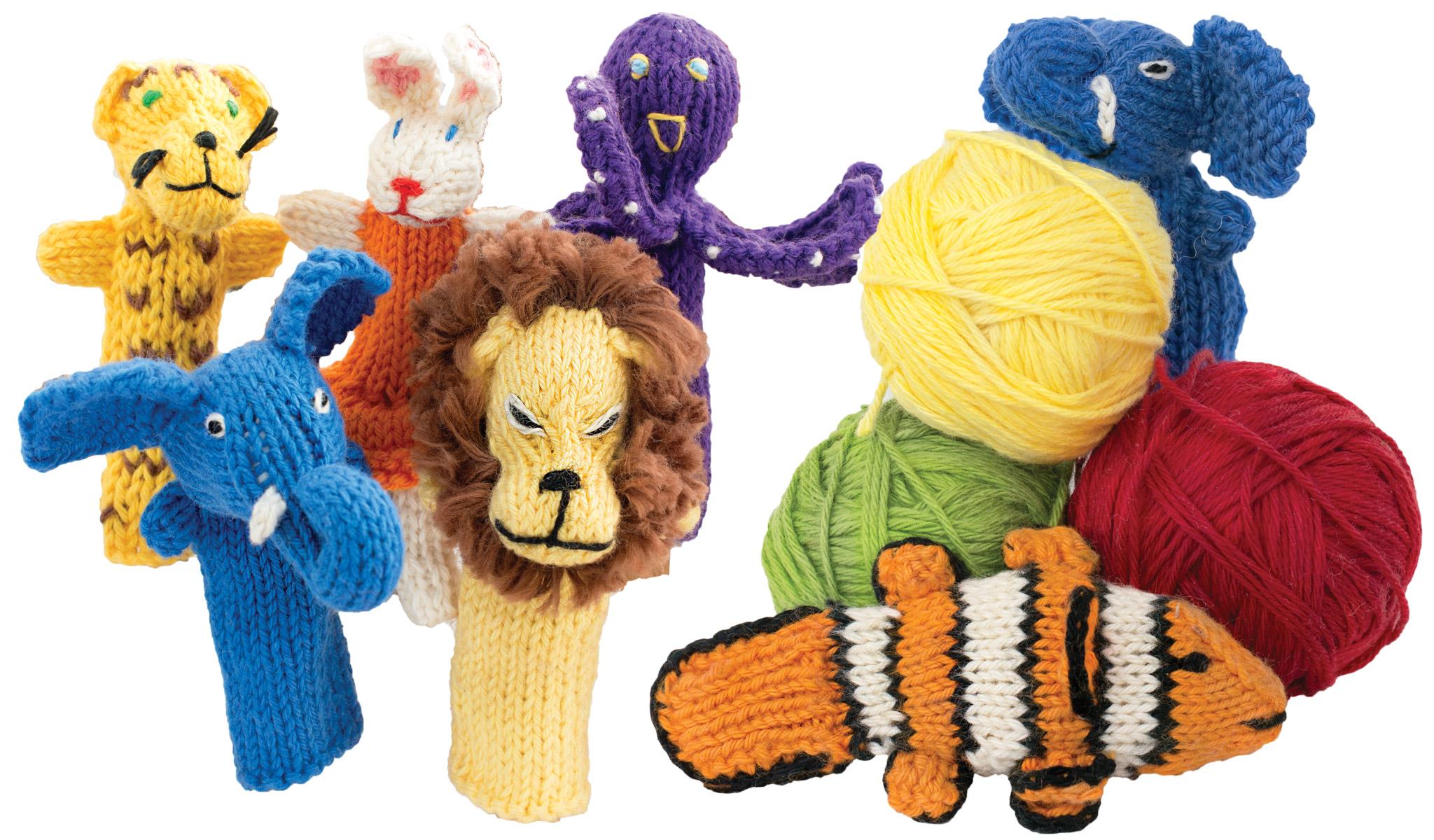 organic cotton finger puppets