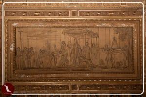 Nola, katedra, dekoracja stropu scena Procesji św. Paulina z nowym dzwonem, fot. P.Jamski