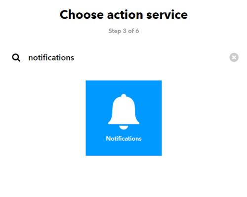 IFTTT notifikace