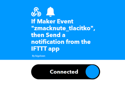 IFTTT v playgroundu