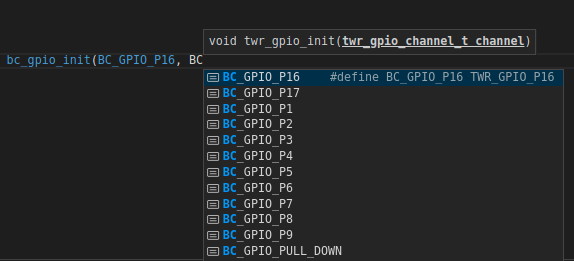 bc_ function will be changed to twr_gpio_init