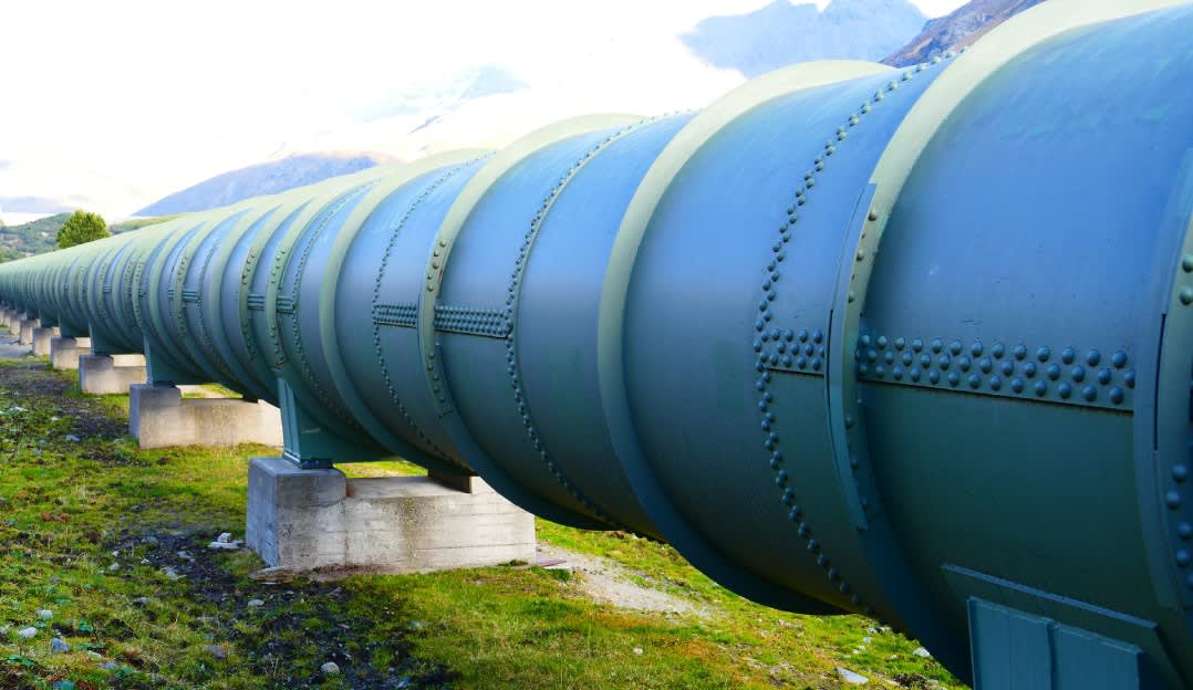 A gas pipeline representing the serverless CICD process.