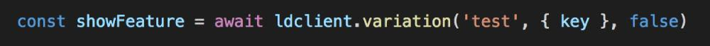 We can ask for the value of this feature flag with a line of code