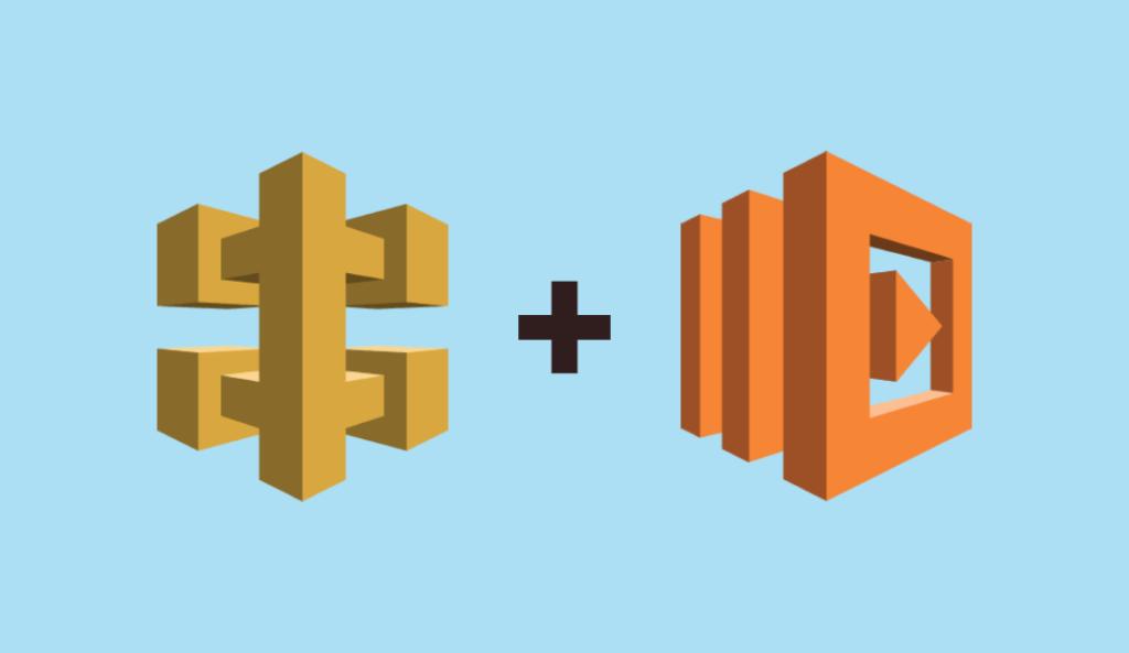 API Gatewa and AWS Lambda logos