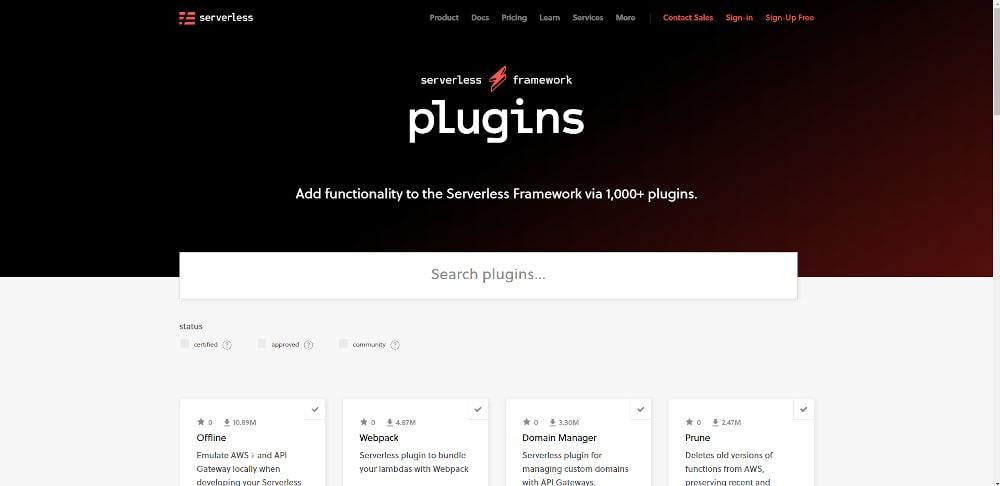The Serverless Framework plugin directory