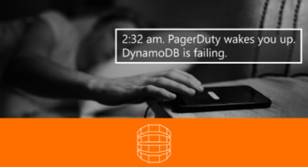 """The first slide from the """"When DynamoDB Explodes"""" conference talk."""