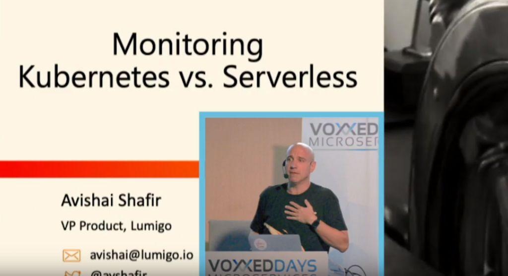 Lumigo VP Product Avishai Shafir speaking at Voxxed Days Microservices, Paris on 22 October, 2019.