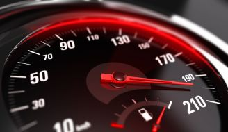 An image of a speedometer representing a faster functioning Lambda