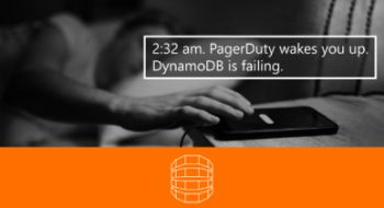 "The first slide from the ""When DynamoDB Explodes"" conference talk."
