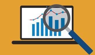 A vector image representing a metrics dashboard.