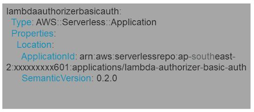 These SAR applications will have a type: AWS::Serverless::Application