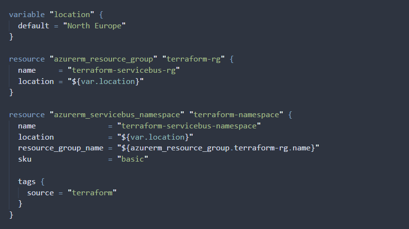 An example of using declarative infrastructure as code using Terraform.