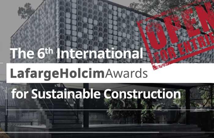 Inscrições para o 6º LafargeHolcim Awards