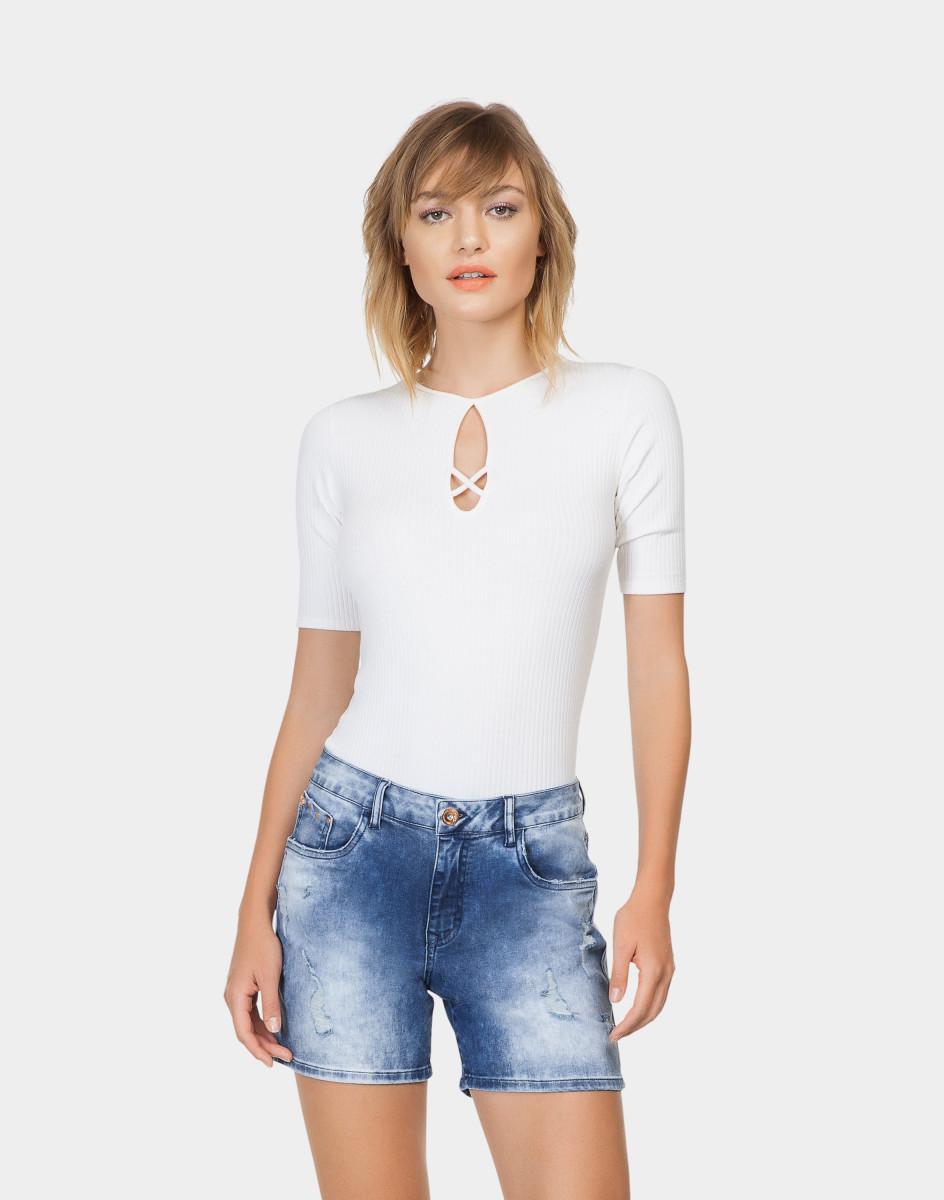 Lez A Lez - Bermuda Jeans Venice Tachas Jeans