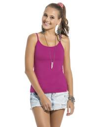 8e9eae83b5 Blusa Básica de Alças Rosa « Lunender Store