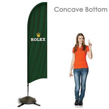 Bowhead Banners Concave Bottom Option