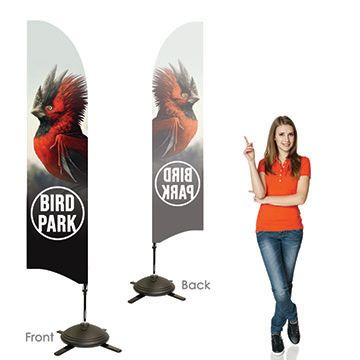 Bowhead Banners Single Sided, Left Facing Option with Pole on the Right