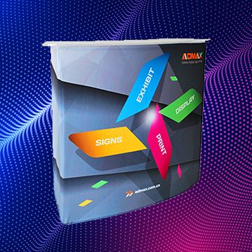 Trade Show Counters with Curved Shape Options