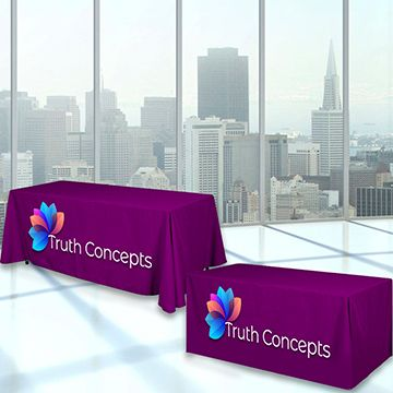 Custom Convertible Table Covers for 6 to 8 foot Table Option