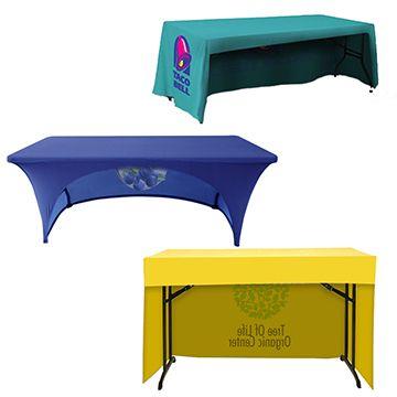 Custom Table Covers Open Back Shape Option