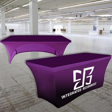 Custom Table Covers Stretch Shape Option