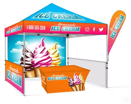 Feather Banners Canopy Display Options